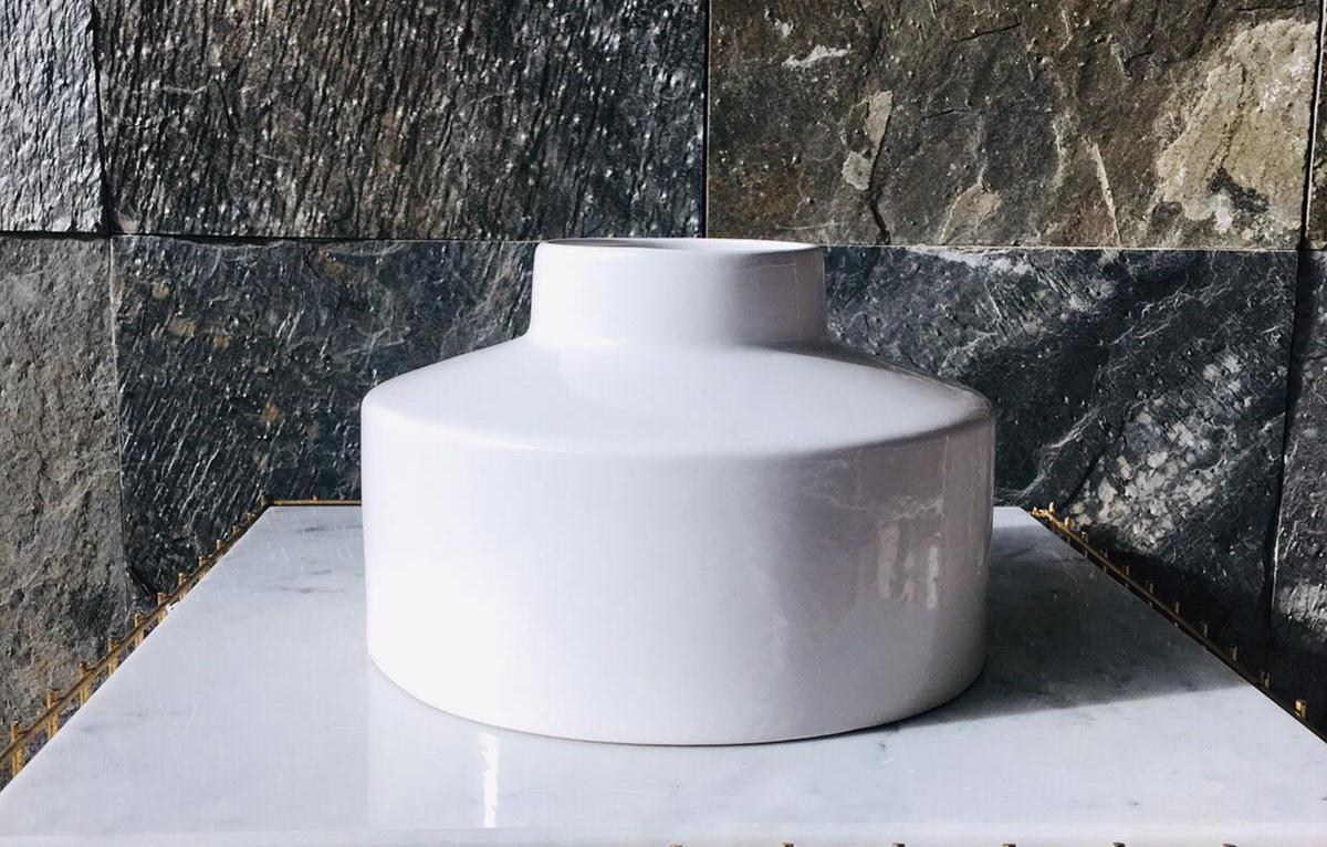 Berkin vase gl wit Pots & Vases