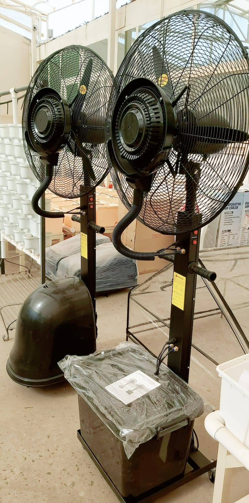 Rotating Mist Fan Gardening Accessories