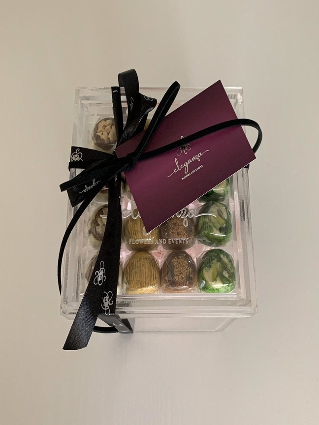 Everlasting Rose with Belgian Chocolate  Combo Pack