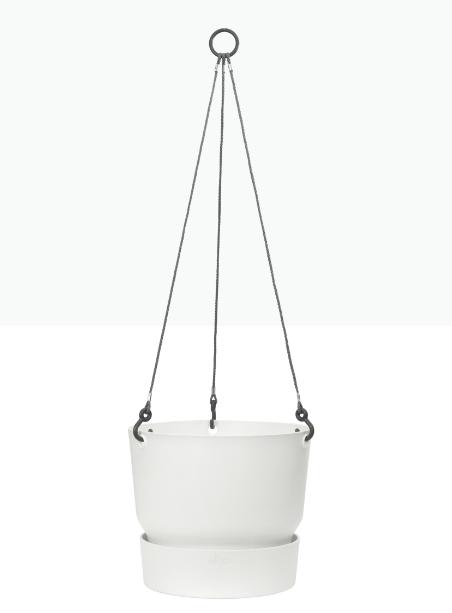 Greenville Hanging Basket 24cm White 'Pots & Vases'