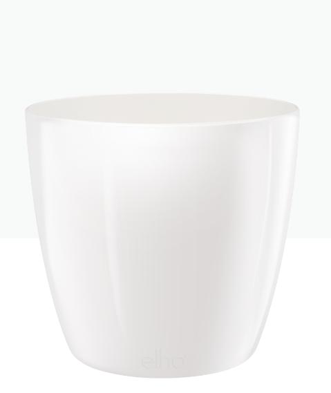 وعاء بروسلز دائري - أبيض 'أواني و مزهريات'
