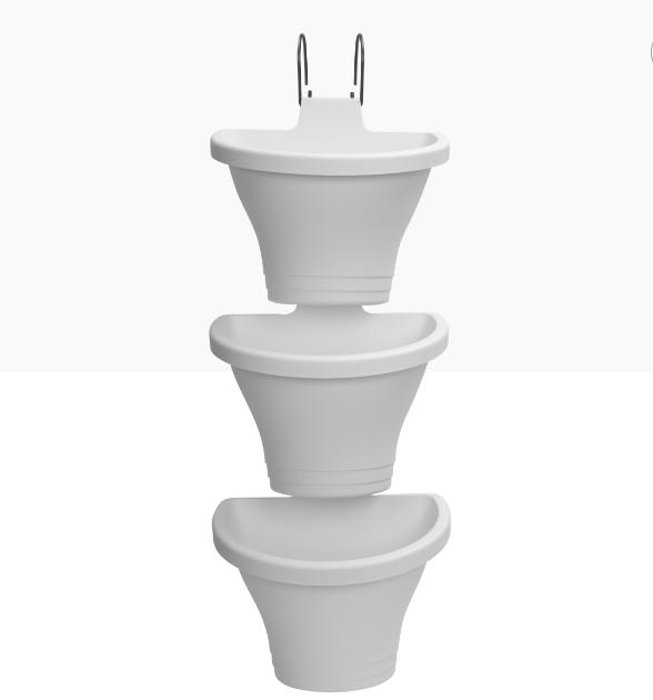 Corsica Vertical Forest 24cm White 'Pots & Vases'