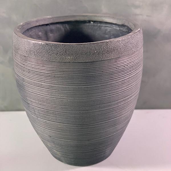 Classic Grey Rib Polystone 'Pots & Vases'