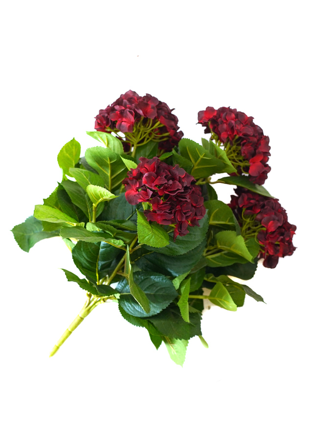 Hydrangea ( Red) Artificial Plants