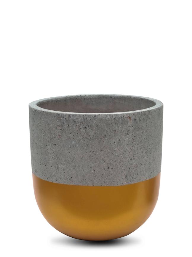 BTM Pot Gold (40 Cm) 'Pots & Vases'