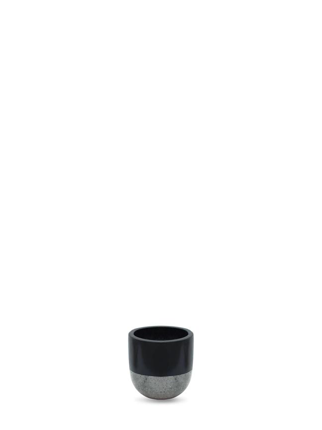 وعاء توب - أسود 'أواني و مزهريات'