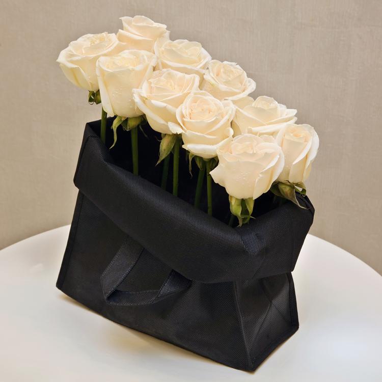 Black Bag  'Flower with Base'