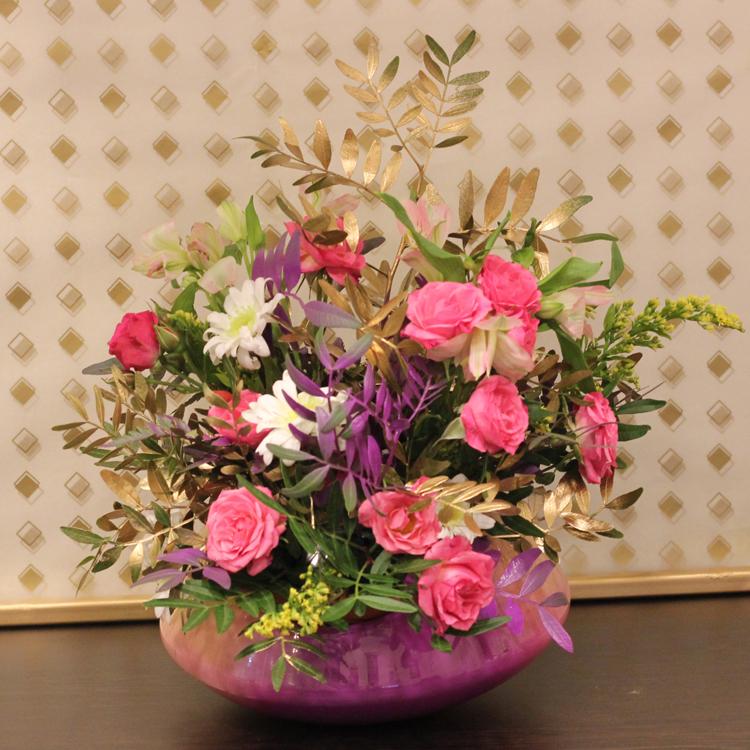 rainbow vase  Flower with Base