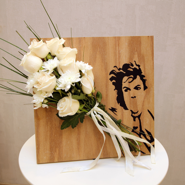 White Flowers With A Frame  'Flower with Base'