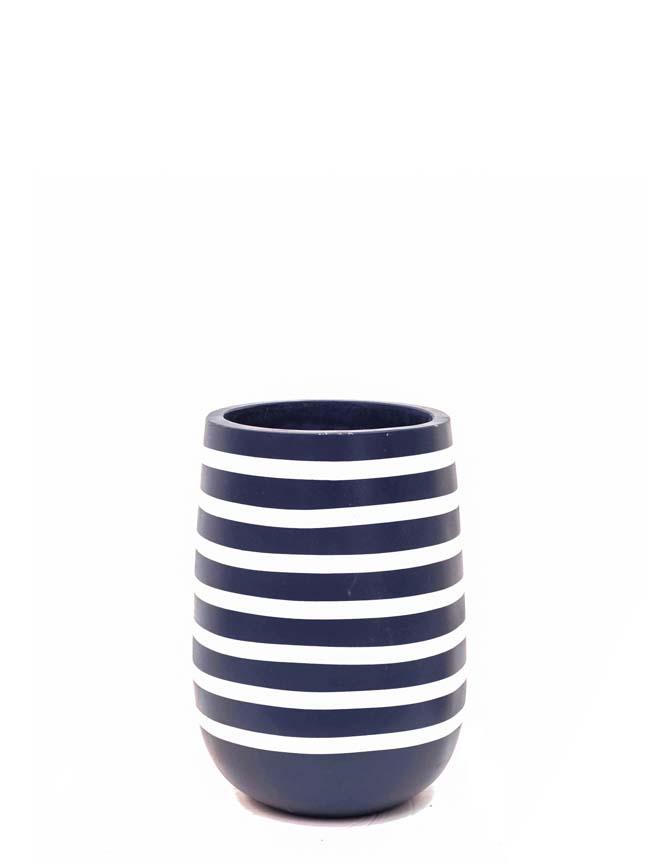 Zebra Marina Navy 'Pots & Vases'