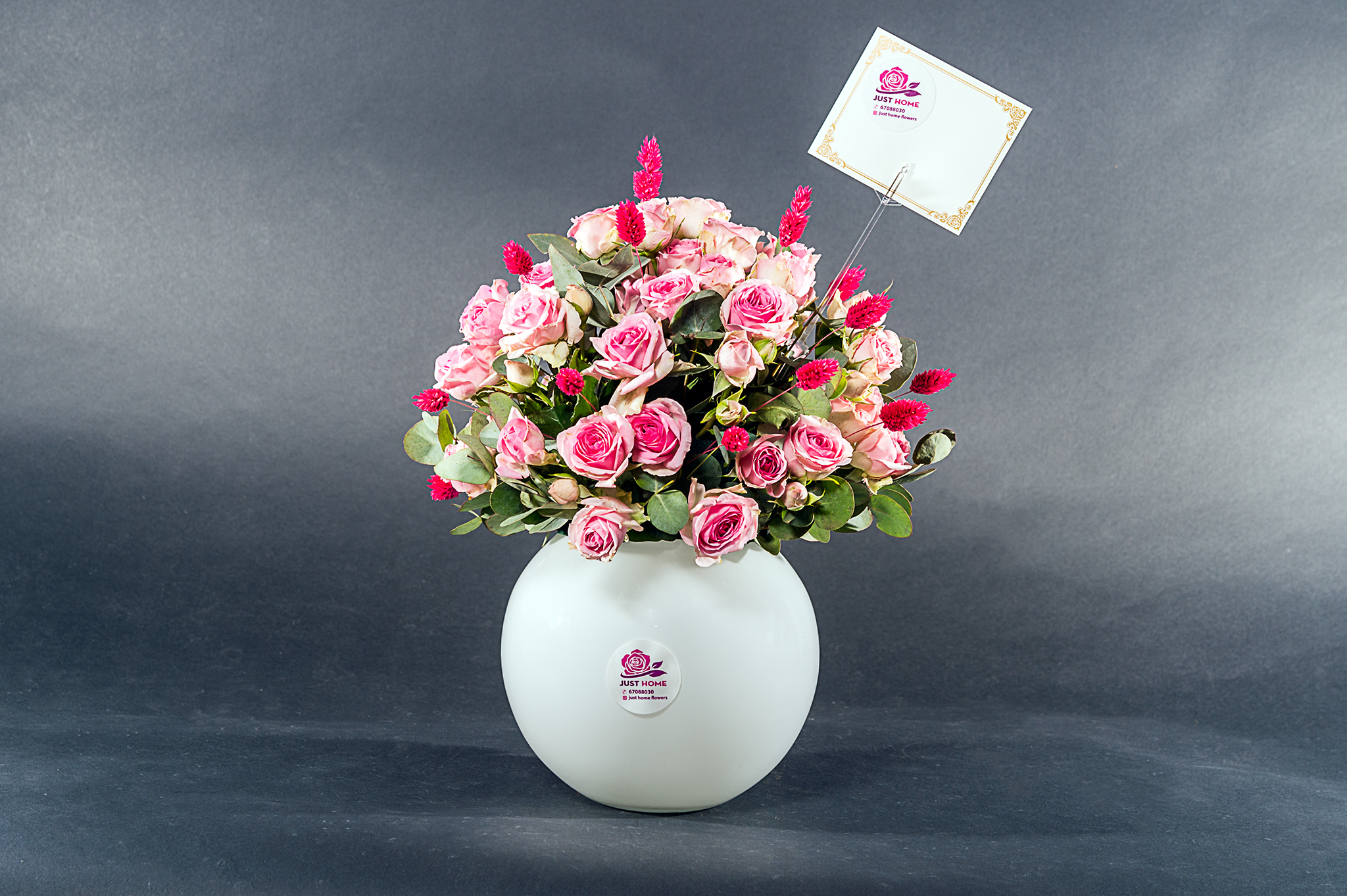 Pink Petal Love 'Flower with Base'