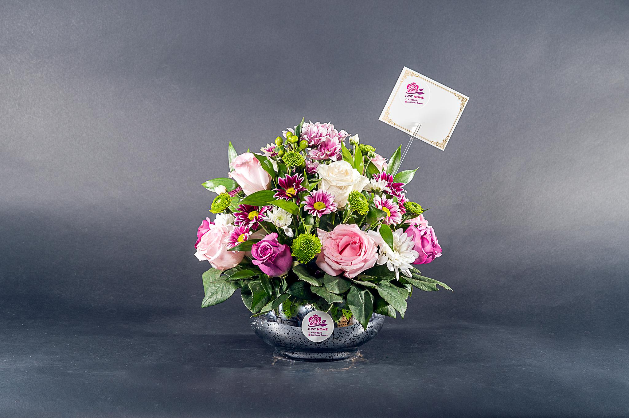 نعمة الحب 'زهور مع قاعدة'