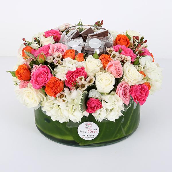 Round Vase 'Bouquets'