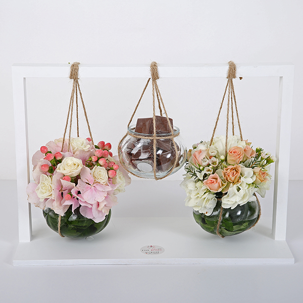 Flower And Chocolate - 3 Pcs  'Bouquets'