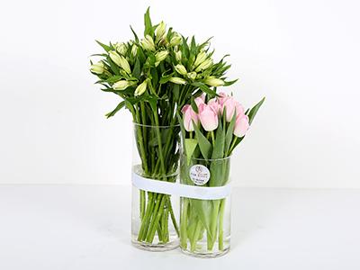 فازة توليب 32 'زهور مع قاعدة'