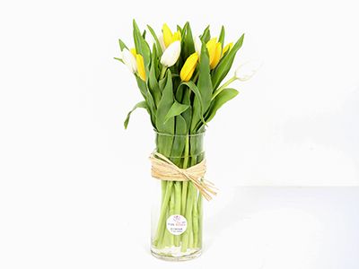 Tulip In A Vase 'Flower with Base'