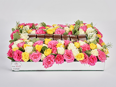 Flowers And Chocolates Tray 'Bouquets'