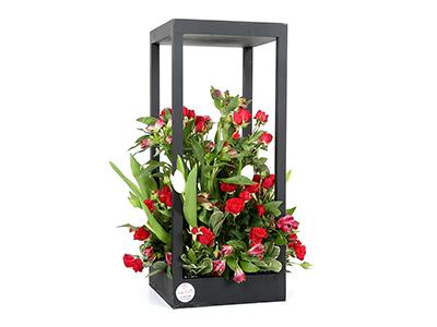 1 ستاند ورد - أسود 'باقة زهور'
