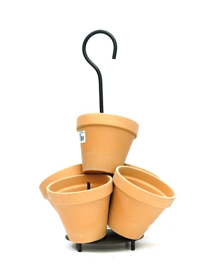 Daisy Flowertower Terra Antique Table  'Pots & Vases'