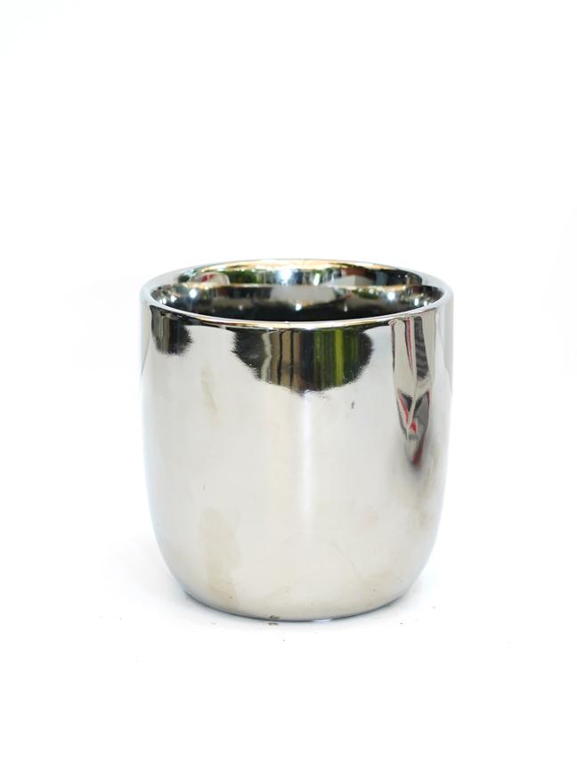 Chaz Pot Round Silver  'Pots & Vases'