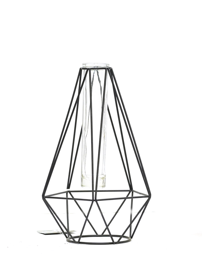 Single flower diamond black  Pots & Vases