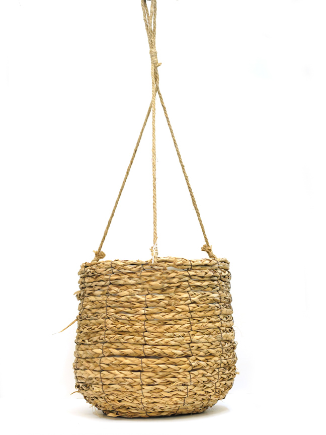 Avalon basket hanging l. brown 30  Pots & Vases