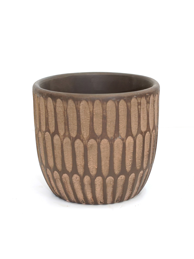 Gianni Pot Round 5 Brown 'Pots & Vases'