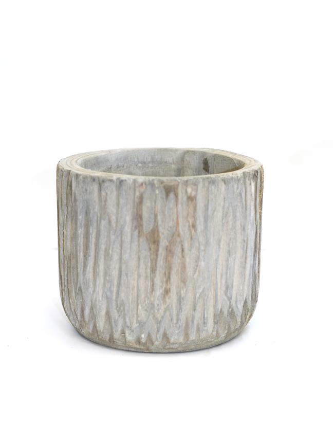 Pia pot grey 19 Pots & Vases