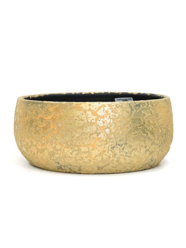 Clemente Bowl Round Gold  'Pots & Vases'