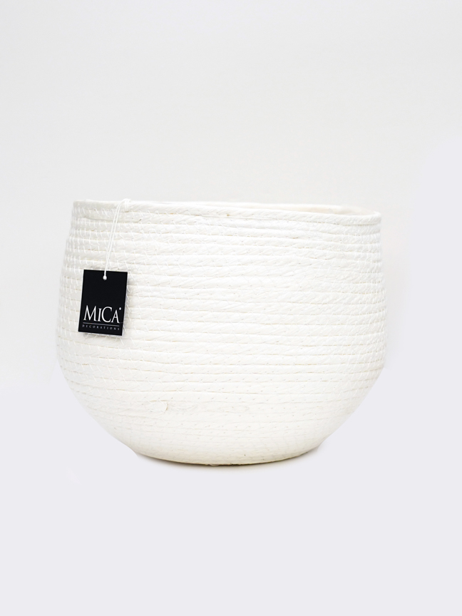 Jorck basket round off white 22 Pots & Vases