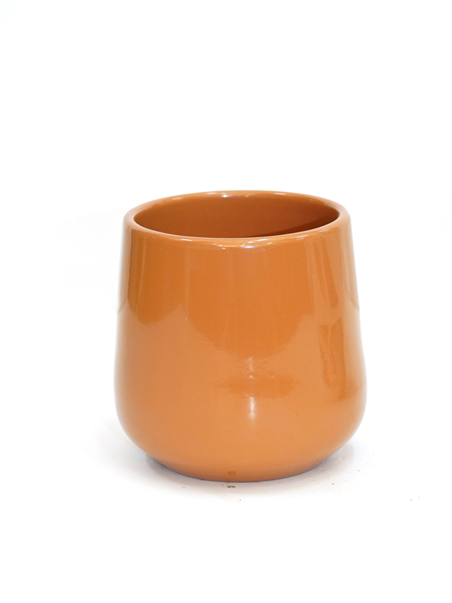 Amber Pot Round Brown  'Pots & Vases'