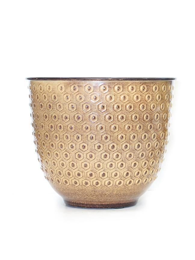 Liguria Pot Round Yellow  'Pots & Vases'