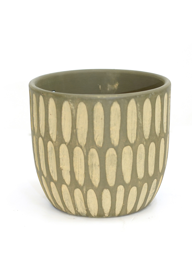 Gianni Pot Round 5 Green 'Pots & Vases'
