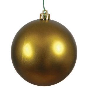 Christmas Ball - Shiny Olive Green  Holiday Season