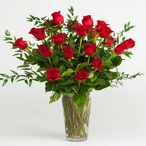 Romanesque Rose Arrangement Flower with Base