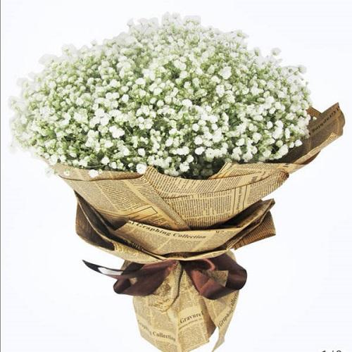 To Love White Gypsophillia Bouquet Bouquets
