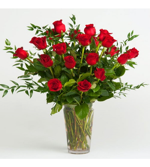 Red Rose Arrangement Flower with Base