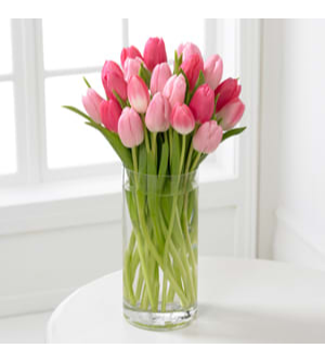 Pink Tulips Arrangement Flower with Base