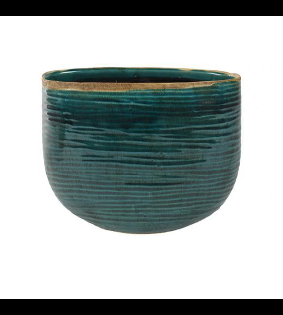 iris Turquoise Planter  Pots & Vases