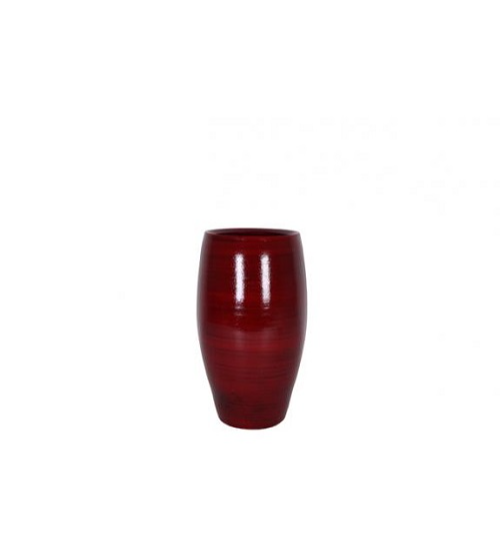 Cresta Pot - deep red h20 Pots & Vases