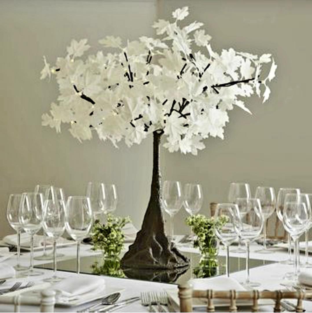 White Mini Maples Artificial Plants