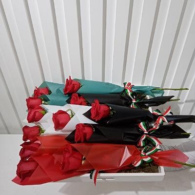 single rose on a tray Hala February