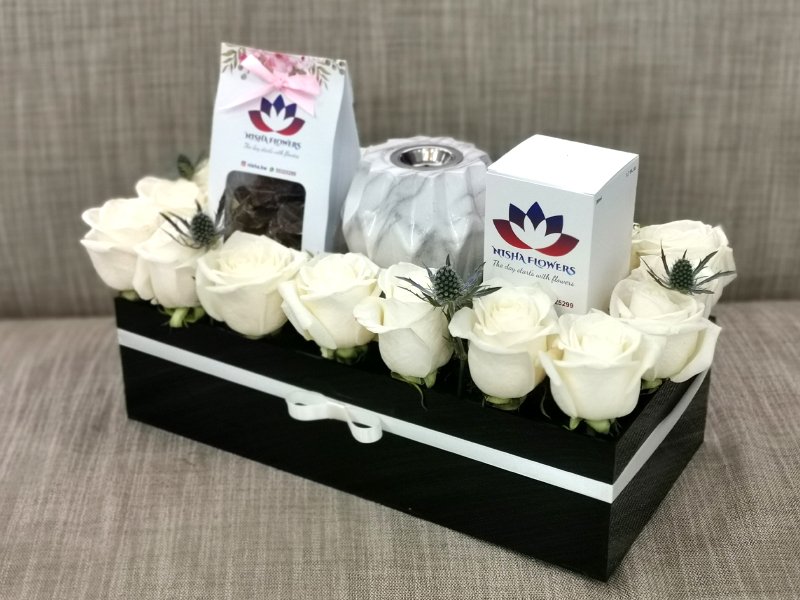 White Acrylic Box Mother's day