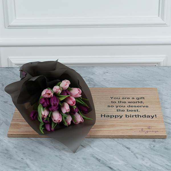 Dedication Board HB2 Flower with Base