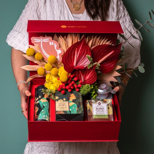 صندوق قهوة محمر هدايا
