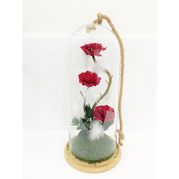 long life flowers in big vase Red Love