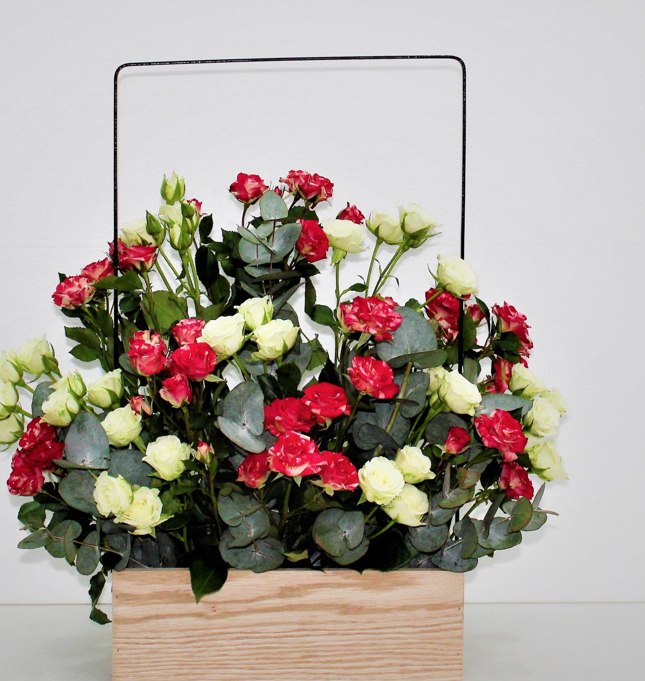 Wooden Flower Basket EID