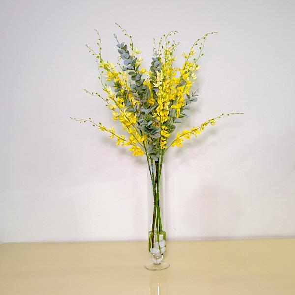 أوركيد أصفر اصطناعي نباتات اصطناعية