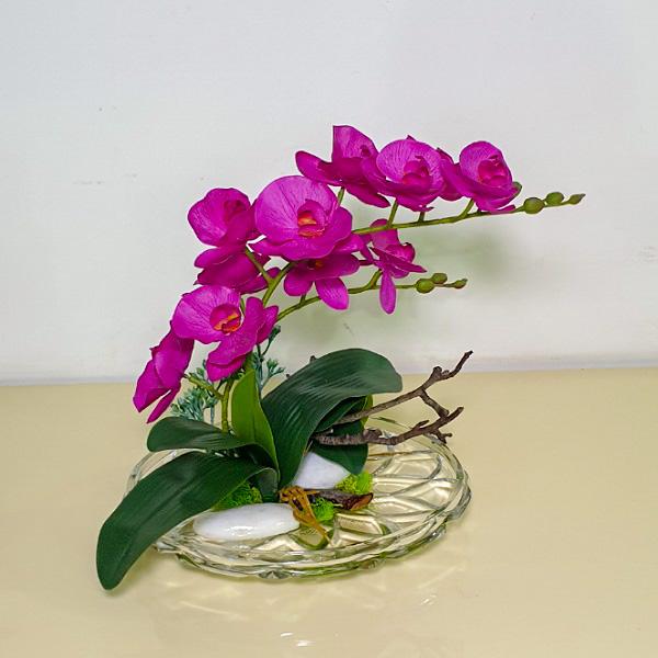 أوركيد فوشي اصطناعي نباتات اصطناعية