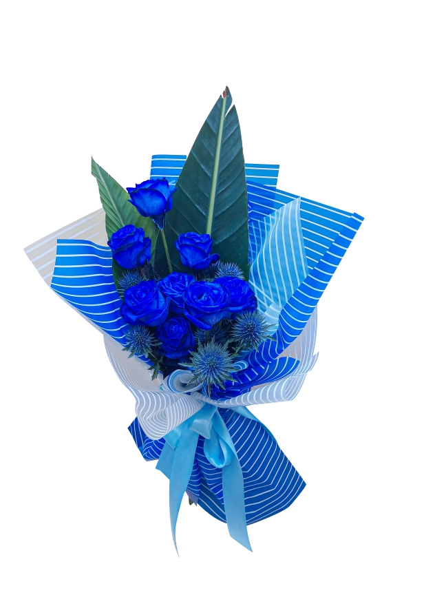 All Blue Hand Bouquets